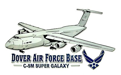 Dover Air Force Base C-5M Super Galaxy Fridge Magnet