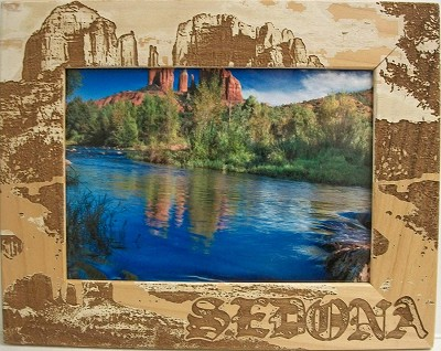 Sedona Laser Engraved Wood Picture Frame (5 x 7)