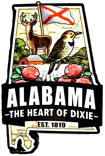 Alabama Classic Artwood Jumbo Fridge Magnet