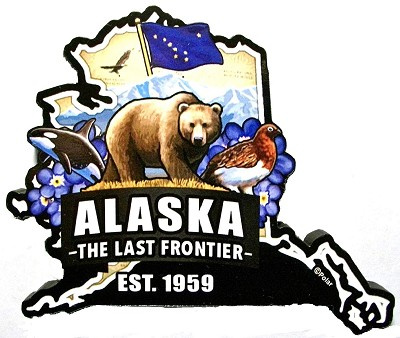 Alaska Classic Artwood Jumbo Fridge Magnet