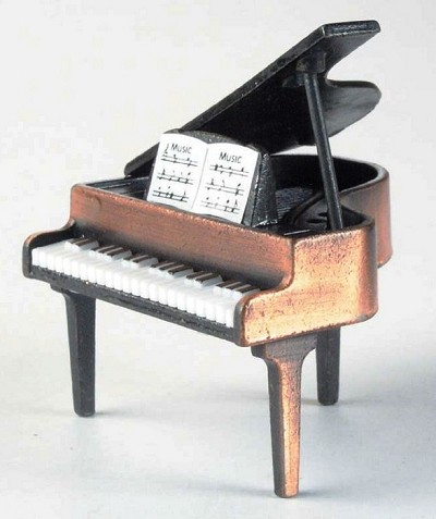 Grand Piano Die Cast Metal Collectible Pencil Sharpener Design 1