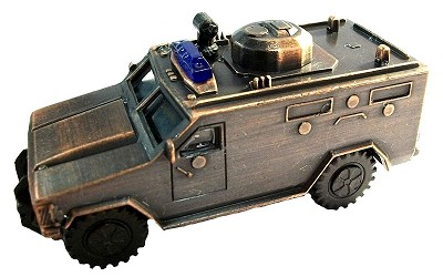Police SWAT Truck Die Cast Metal Collectible Pencil Sharpener