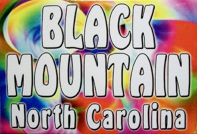 Black Mountain North Carolina Tye Die Fridge Magnet