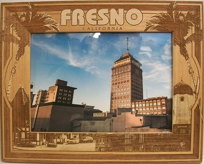 Fresno California Laser Engraved Wood Picture Frame (5 x 7)