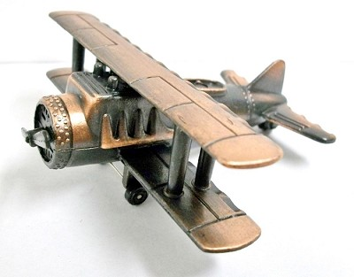 Bi-Plane Die Cast Metal Collectible Pencil Sharpener Design 1