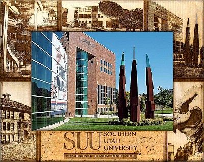 Southern Utah University Laser Engraved Wood Picture Frame (5 x 7)