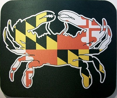 Maryland Flag with Crab Mouse Pad Design 25