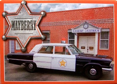 Mayberry North Carolina with Sheriffs Car Fridge Magnet