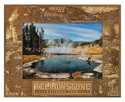 Yellowstone National Park Laser Engraved Wood Picture Frame (5 x 7)