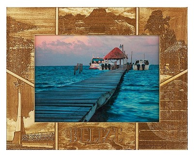 Belize Laser Engraved Wood Picture Frame (5 x 7)