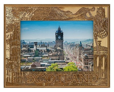 Scotland Laser Engraved Wood Picture Frame (5 x 7)