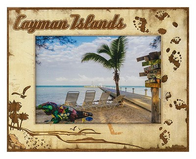 Cayman Islands Laser Engraved Wood Picture Frame (5 x 7)
