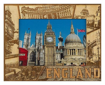 England Laser Engraved Wood Picture Frame (5 x 7)