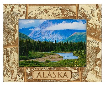 Alaska Laser Engraved Wood Picture Frame (5 x 7)