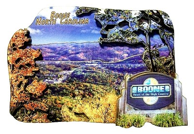 Boone North Carolina Artwood Fridge Magnet