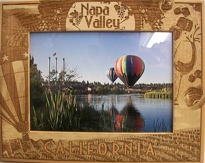Napa Valley California Laser Engraved Wood Picture Frame (5 x 7)