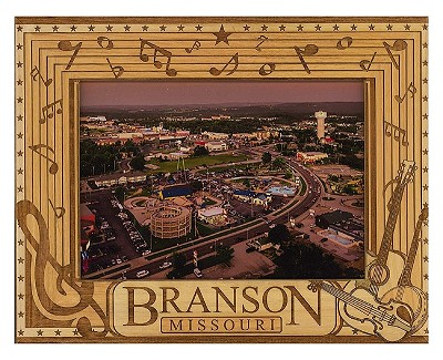 Branson Missouri Laser Engraved Wood Picture Frame (5 x 7)