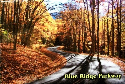 Blue Ridge Parkway Fall Scene North Carolina Fridge Magnet