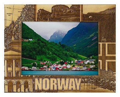 Norway Laser Engraved Wood Picture Frame (5 x 7)