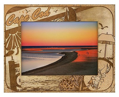 Cape Cod Massachusetts Laser Engraved Wood Picture Frame (5 x 7)