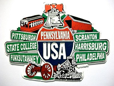 Pennsylvania Street Signs Fridge Magnet Design 27