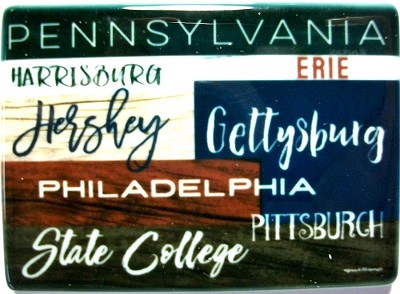 Pennsylvania Cities Porcelain Fridge Magnet Design 25