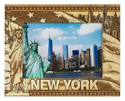 New York City Laser Engraved Wood Picture Frame (5 x 7)