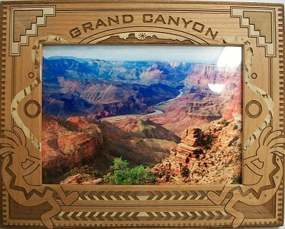 Grand Canyon Laser Engraved Wood Picture Frame (5 x 7)