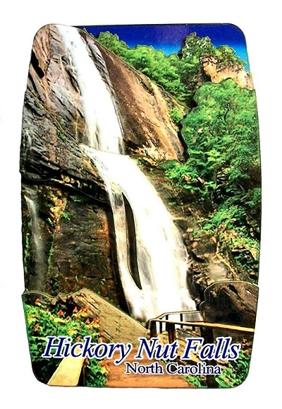 Hickory Nut Falls North Carolina Artwood Fridge Magnet