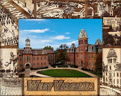West Virginia University Engraved Wood Picture Frame (5 x 7)
