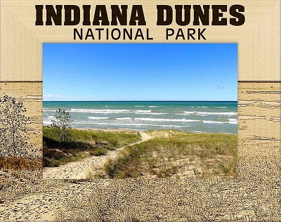 Indiana Dunes National Park Laser Engraved Wood Picture Frame (5 x 7)