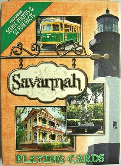 Savannah Georgia Souvenir Playing Cards Design 1