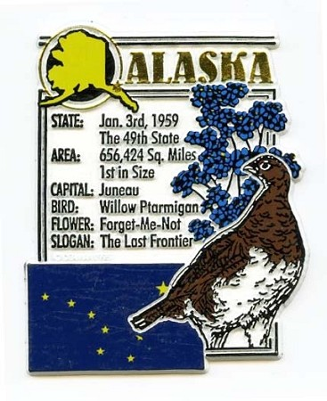 Alaska Square Montage Fridge Magnet Design 5