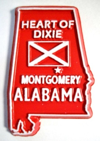 Alabama State Outline Fridge Magnet Design 10