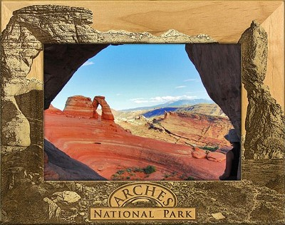 Arches National Park Utah Laser Engraved Wood Picture Frame (5 x 7)
