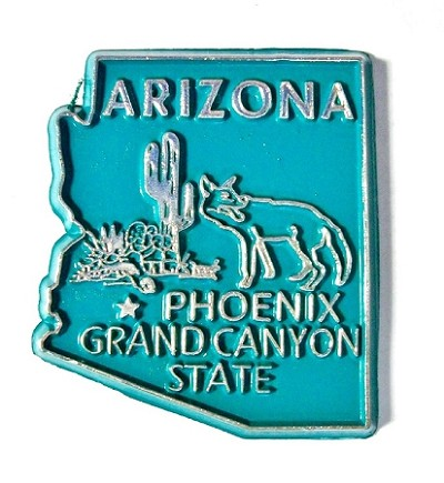 Arizona State Outline Fridge Magnet