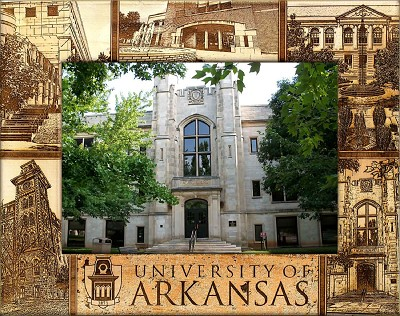 University of Arkansas Laser Engraved Wood Picture Frame (5 x 7)