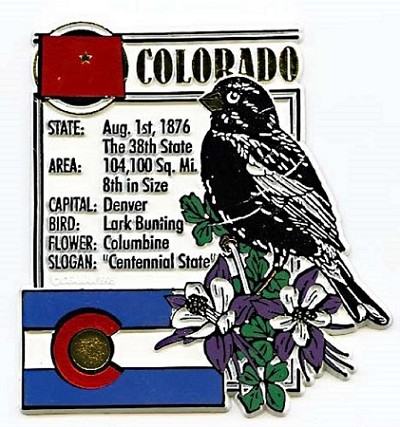 Colorado Square State Montage Fridge Magnet Design 5