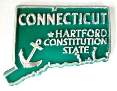Connecticut State Outline Magnet Design 10