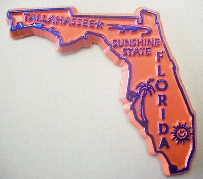 Florida State Outline Fridge Magnet Design 10