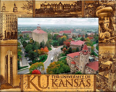 The University of Kansas Laser Engraved Wood Picture Frame (5 x 7)