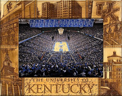 The University of Kentucky Laser Engraved Wood Picture Frame (5 x 7)