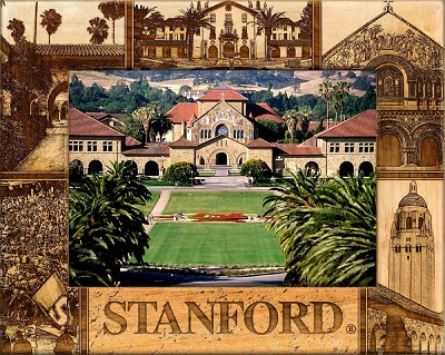Stanford Laser Engraved Wood Picture Frame (5 x 7)