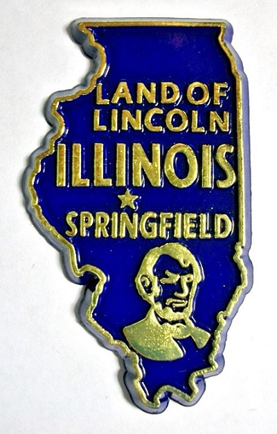 Illinois State Outline Magnet Design 10