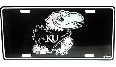 Kansas Jayhawks Elite Plate-NCAA