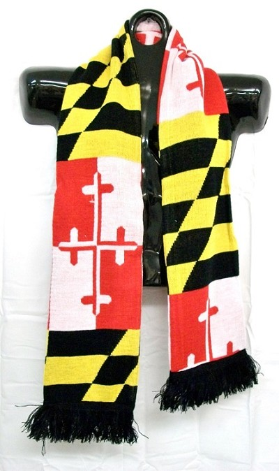 Maryland Flag Winter Knit Scarf Design 10