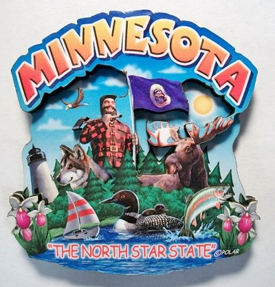 Minnesota Montage Artwood Fridge Magnet Design 16
