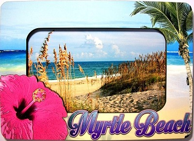 Myrtle Beach South Carolina Picture Frame Fridge Magnet Design 26