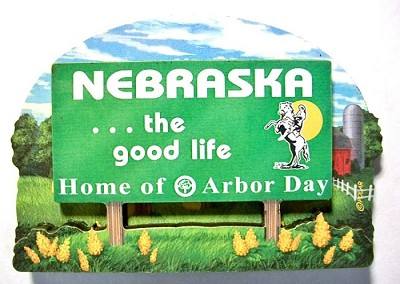 Nebraska State Welcome Sign Artwood Fridge Magnet