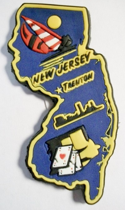 New Jersey Trenton Multi Color Fridge Magnet Design 18